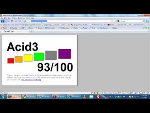 Acid 2 - acid 3 tests on firefox, google chrome, safari, opera and IE :)