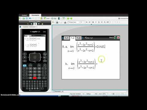 AB Calc 2-1B: Limits on the TI-Nspire CX