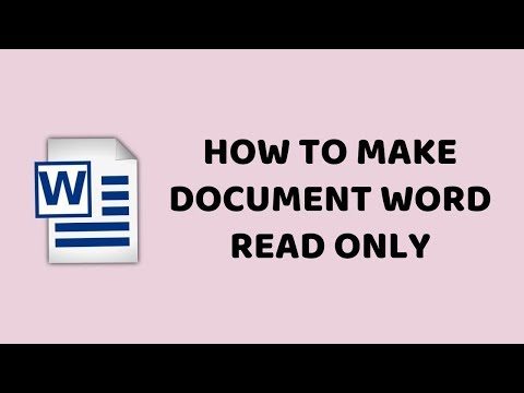 How to Make Document Word Read Only | How to Save Word as Read Only | Tutorials In Hindi