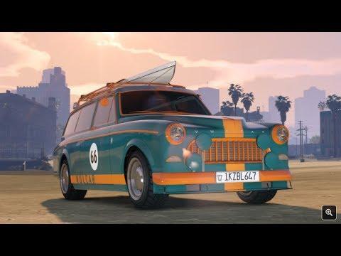 Novo carro  family wagon com prancha  de Surf - GTA  5 online velozes e furiosos