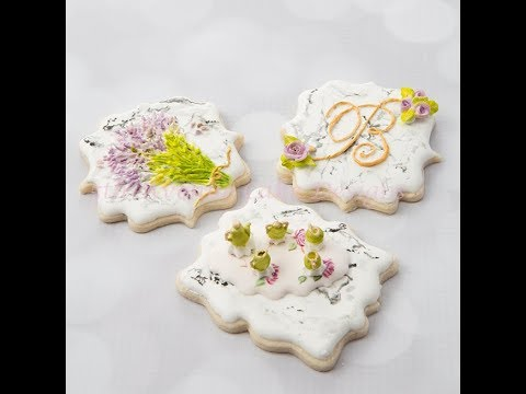How to Make Dimensional Stone Marble Cookies 🍵🌿💐