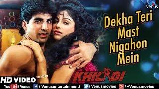 Dekha Teri Mast Nigahon Mein HD VIDEO , Akshay Kumar & Ayesha Jhulka , Khiladi ,90's Romantic Song