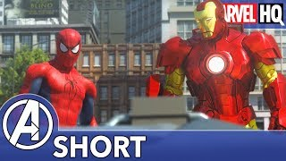 Spidey Meets Iron Man The Avengers Vs Aim Part One Short