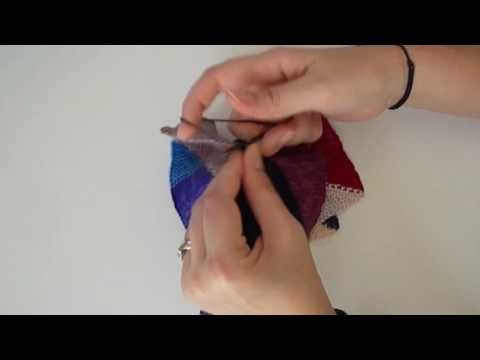 Finishing A Pinwheel Blanket Block - Modified 3-Needle Bind Off - A Knitting Expat Tutorial
