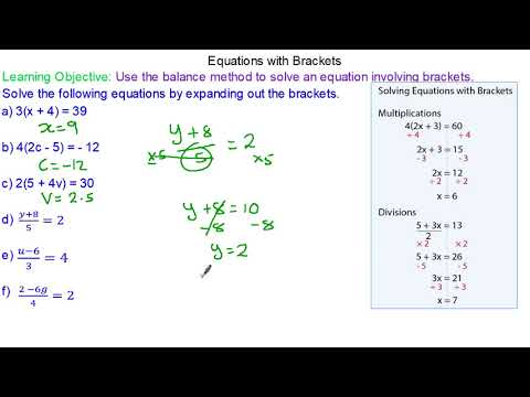 How to solve a linear equation with brackets