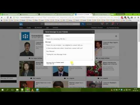 How to Send Message to all Connections on LinkedIn