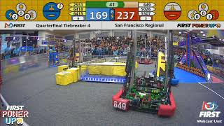 Quarterfinal Tiebreaker 4 - 2018 San Francisco Regional