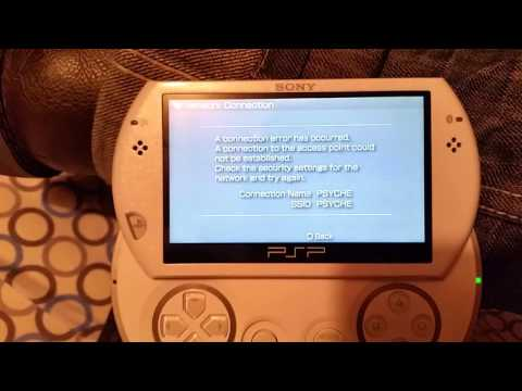 PSP connection error. Need help