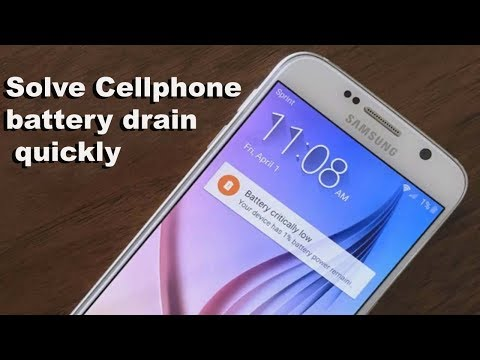how to fix cellphone battery drain quickly