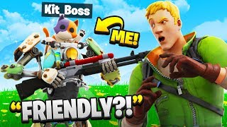 I Pretended To Be BOSS Kit In Fortnite.. (Season 3)