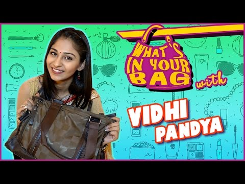 VIDHI PANDYA aka IMLI's Handbag SECRET REVEALED | What's In Your Bag | TellyMasala