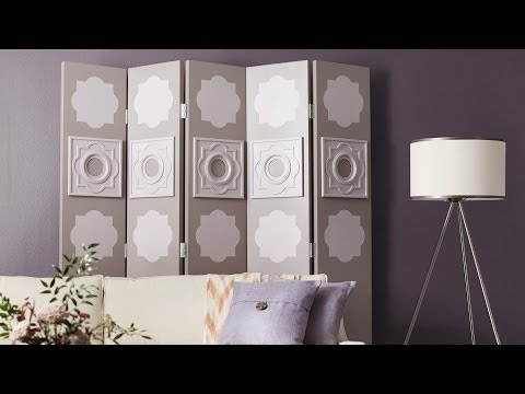 How to Make a Decorative Folding Screen