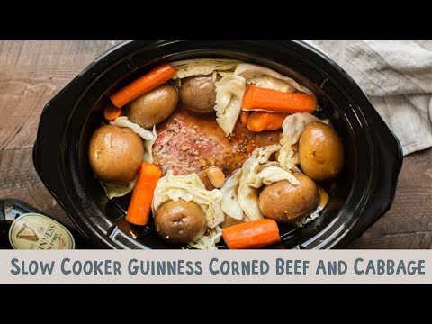 Slow Cooker Guinness Corned Beef and Cabbage