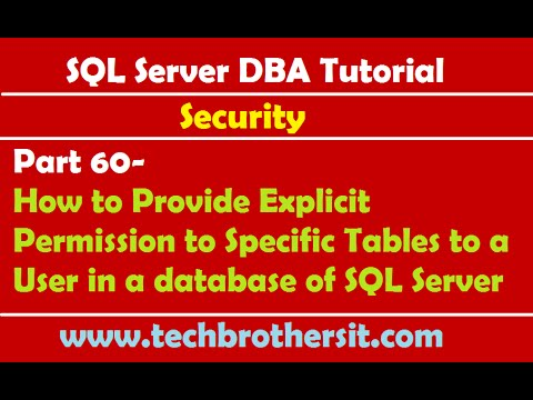 SQL Server DBA Tutorial 60- How to Provide Explicit Permission to Specific Tables to a User