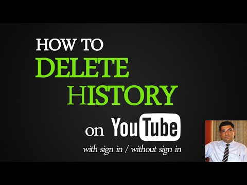 How to Delete Youtube History with sign in | Without sign in