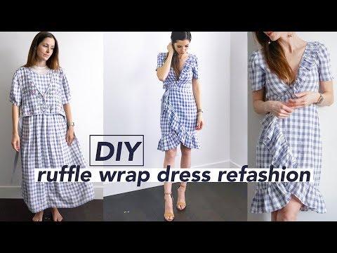 DIY Wrap Dress Refashion  (aka perfect bridesmaid dress)