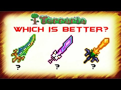 [Legendary] Meowmere, Terra Blade or The Horseman's blade - Which is better? - Terraria