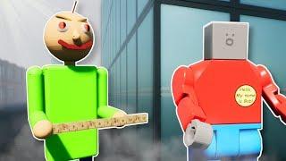 EVIL BALDI SURVIVAL! - Brick Rigs Multiplayer Gameplay - Lego Baldi
