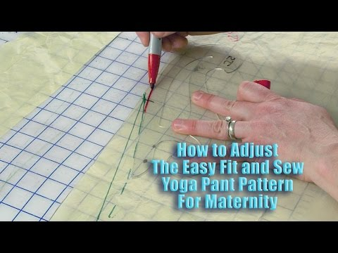 Adjust Easy Fit and Sew Yoga Pants for Maternity
