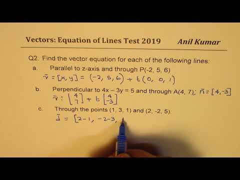 Vectors: Test on Lines Velocity Angle and Area of Traingle IB Math MHF4U