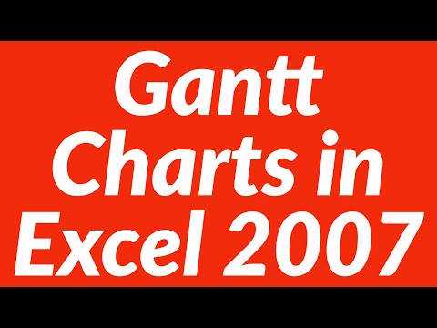 Gantt Charts in Excel 2007