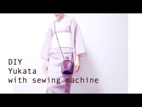 DIY Yukata with sewing machine / Sewing Tutorialㅣmadebyaya