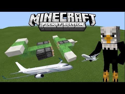 How To Make Working Airplane - Minecraft Pe