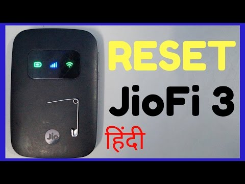 How To Reset JioFi 3 (Hindi)