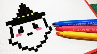 Halloween Pixel Art How To Draw Pumpkin Head Pixelart