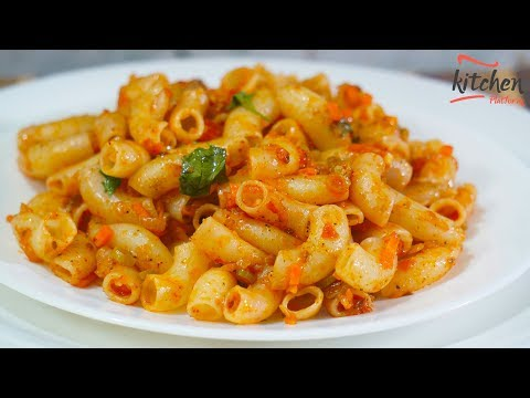 Indian Style Spicy Macaroni Pasta Recipe - Easy Method
