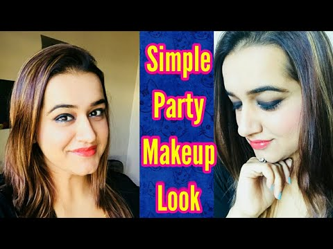 PARTY MAKEUP LOOK TUTORIAL | QUICK & EASY MAKEUP LOOK | EASY SMOKEY EYE MAKEUP |