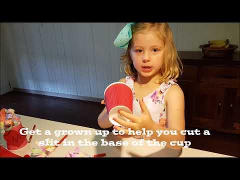 Aussie Kids Craft  - Make a Paper Cup Bouquet