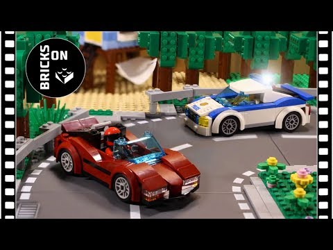 LEGO CITY POLICE High Speed Chase Part 1 Catch The Crook Stop Motion Animation Street Race Brickfilm