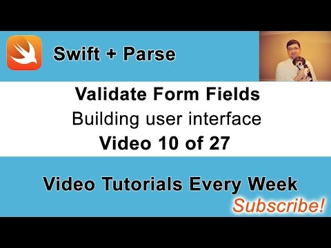 Validate Sign up Form Fields. Swift and Parse Video Course.