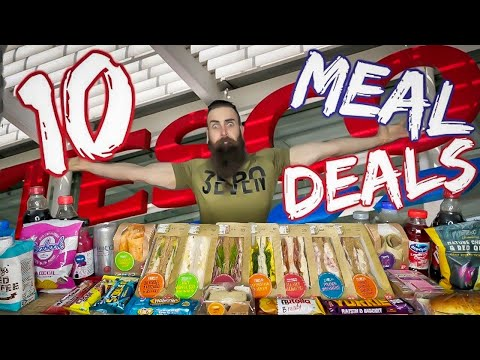 THE 10 TESCO MEAL DEAL CHALLENGE | BeardMeatsFood
