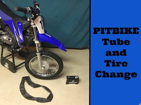 How To Change TTR-110 Pit Bike / Dirt Bike Tube and Tire Without Tire Irons
