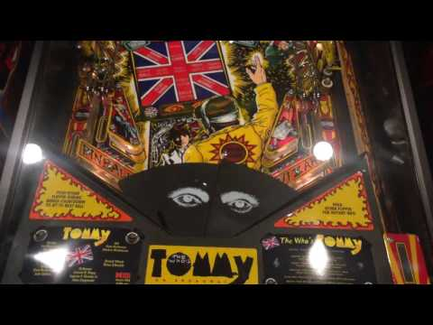 Tommy pinball machine starting game with blinders on