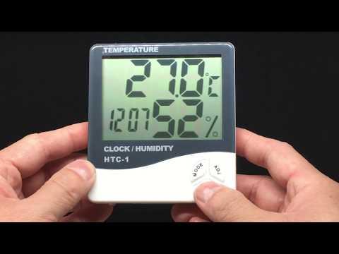 HTC-1 LCD Digital Thermometer Hygrometer | Temperature, Clock, Humidity【4K】