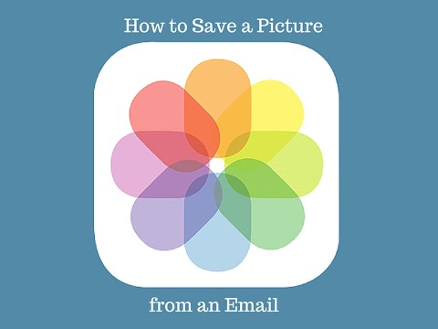 How to Save a Picture from an Email