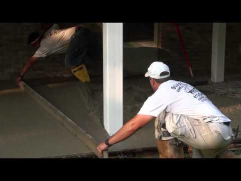 How to Pour Concrete Patio