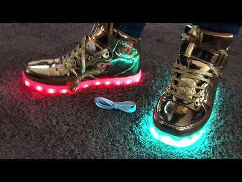 Saguaro $27 gold  led light up shoes