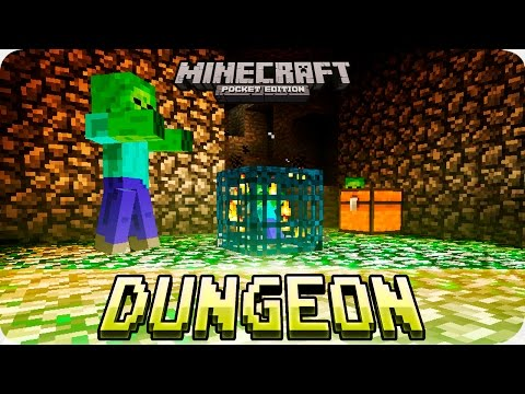 Minecraft PE Seeds - Dungeon at Spawn, 4 Villages with Mineshaft Seed! 0.16.0 / 0.15.0 MCPE