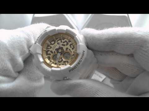 White Casio Baby G Digital Analog Watch BA120LP-7A2