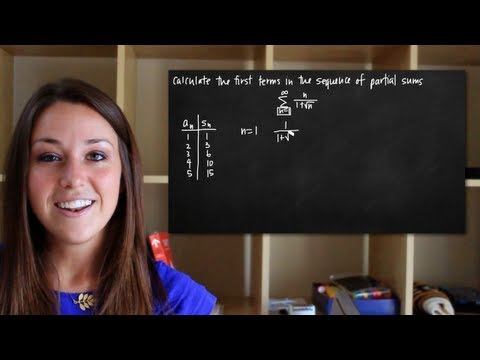 Calculating the first terms in a series of partial sums (KristaKingMath)
