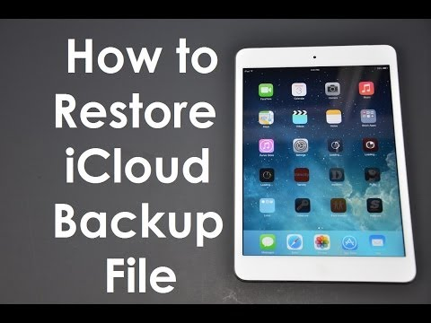 How to Restore iCloud Backup File iOS8 & iOS7
