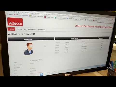 How to check pf balance of adecco trust