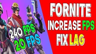FORTNITE [UPDATED] FPS BOOST 100% WORK // FROM 30 FPS TO 200 !!??