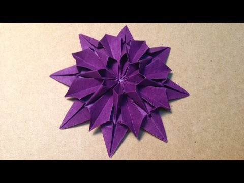 Origami Flower Instructions / Dahlia
