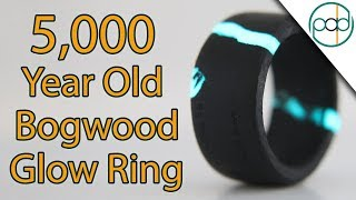 Making a 5000 Year Old Glow Ring Out of Bog Wood