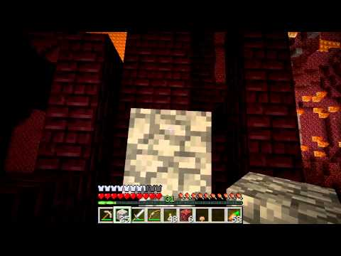 Minecraft GTTE #13: Going to the Nether to find a Nether Fortress and Blaze spawner